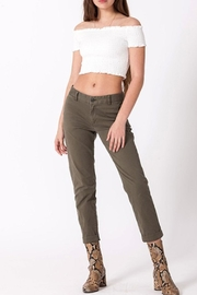 Double Zero Smocked Crop Top - Front cropped