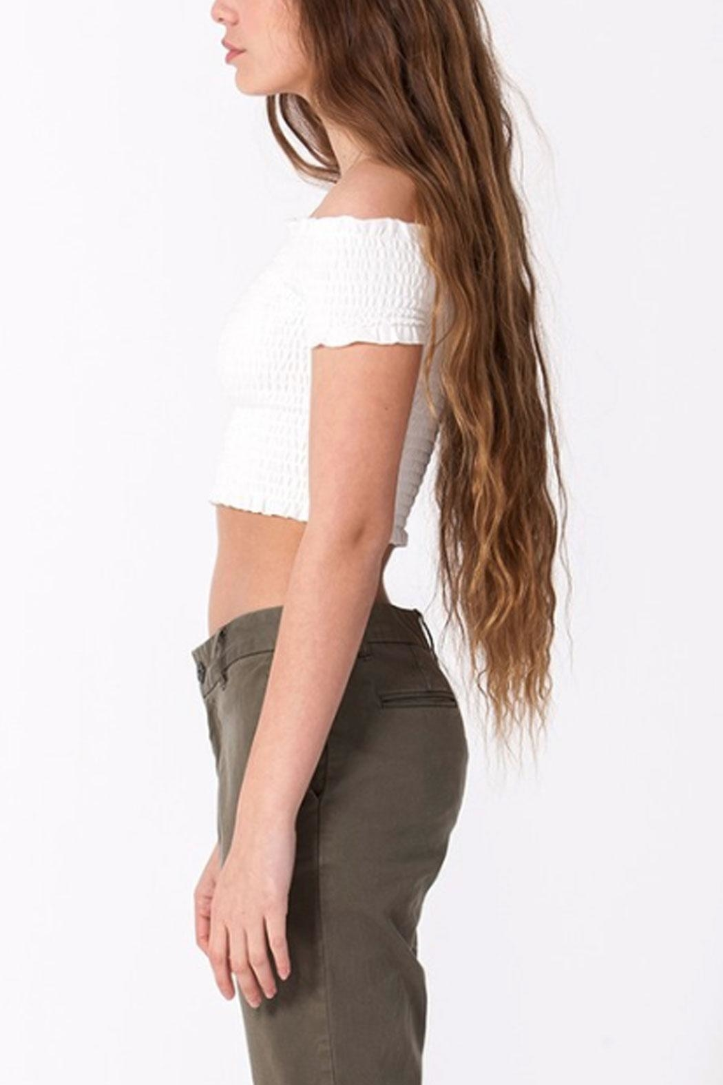 Double Zero Smocked Crop Top - Side Cropped Image