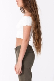 Double Zero Smocked Crop Top - Side cropped