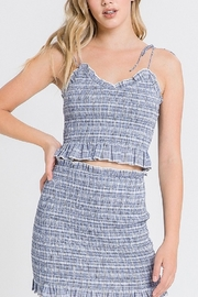 After Market Smocked Crop Top - Product Mini Image