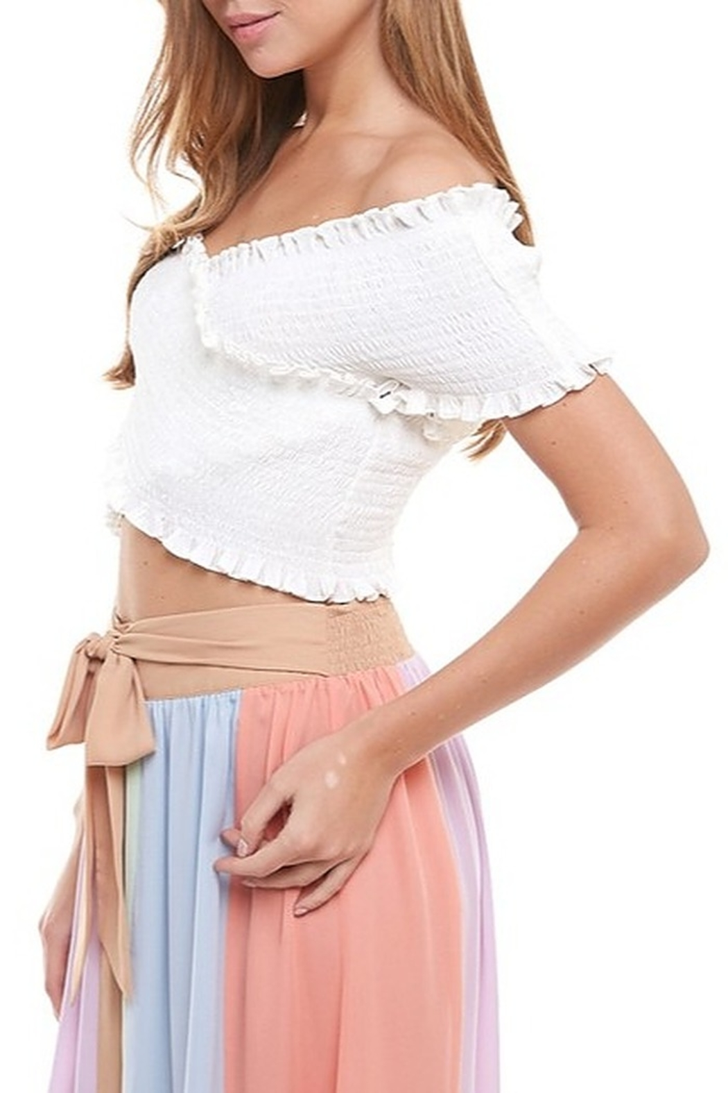TCEC Smocked Crop Top - Front Full Image