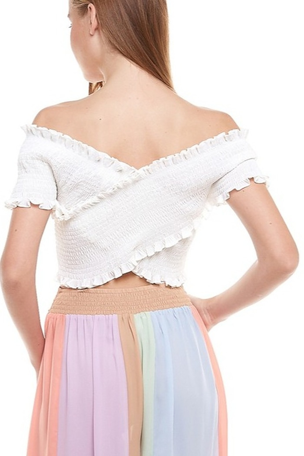 TCEC Smocked Crop Top - Side Cropped Image