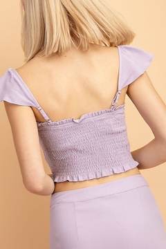 Le Lis Smocked Crop Top - Alternate List Image