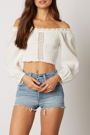 Cotton Candy LA Smocked Crop Top - Product Mini Image