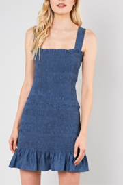 Do & Be Smocked Denim Dress - Product Mini Image
