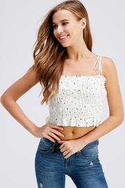 storia Smocked Dot Top - Front cropped