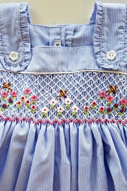 Sweet Dreams Smocked-Flowers-And-Bubble-Bees Apron Dress - Side cropped