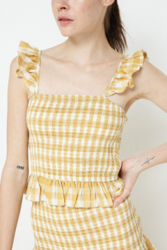 Blue B Smocked Gingham Top - Product List Image