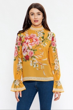 Flying Tomato Smocked High-Neck Top - Product List Image
