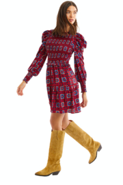 Allison Collection Smocked Kaleidoscope Dress - Front cropped
