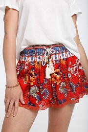 Patrons of Peace Smocked Lace Shorts - Front full body