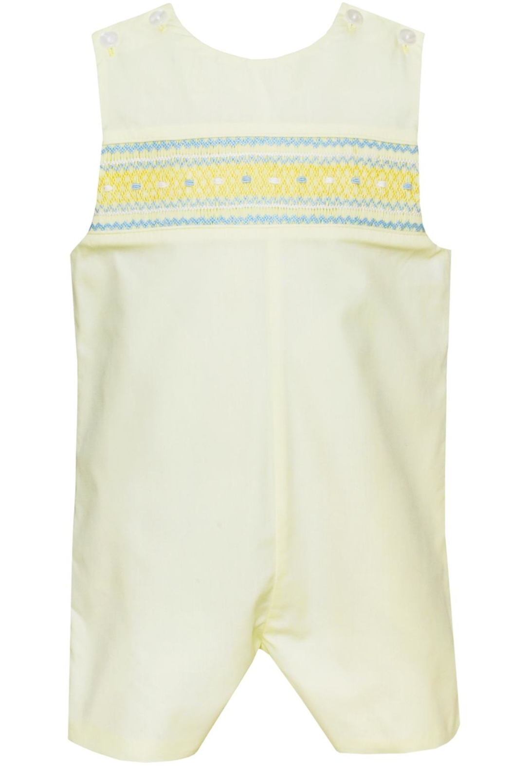 Petit Bebe Smocked Lemon-Yellow John-John - Main Image