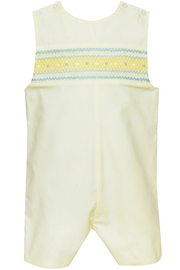 Petit Bebe Smocked Lemon-Yellow John-John - Front cropped