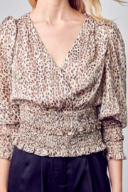 Do + Be  Smocked Leopard Blouse - Back cropped