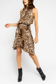 Olivaceous  Smocked Leopard Halter Dress - Product Mini Image