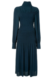 Proenza Schouler SMOCKED LONG DRESS - Front cropped