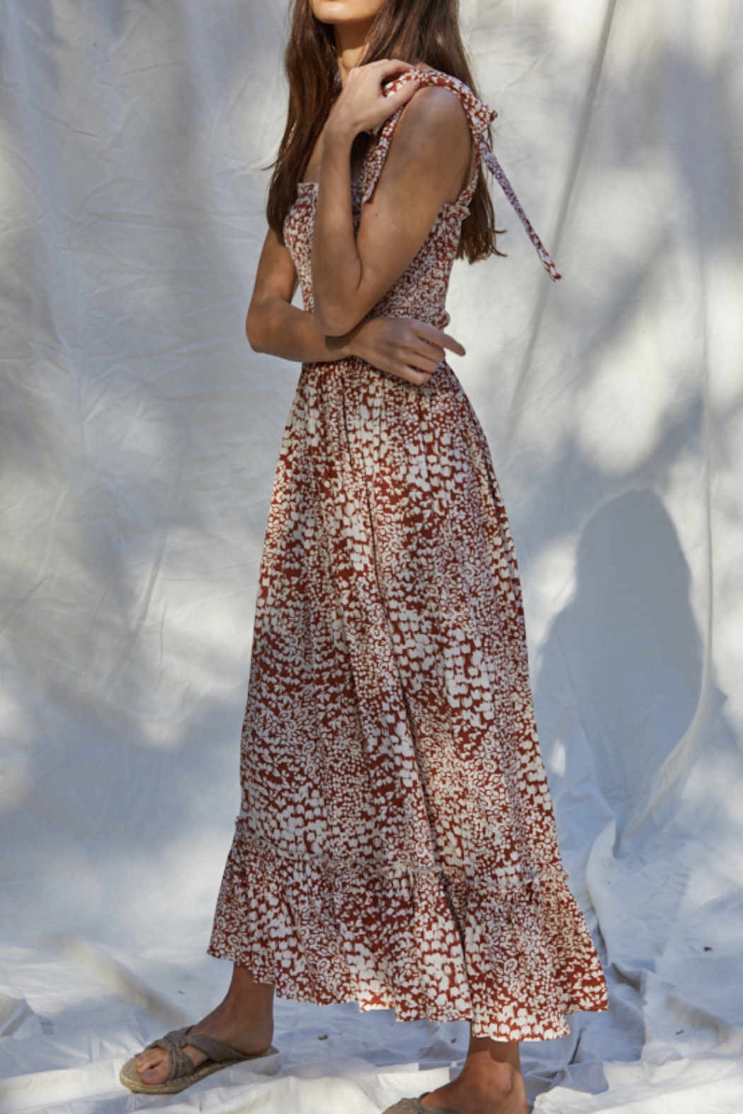 By Together  Smocked Maxi Dress - Front Full Image