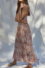 By Together  Smocked Maxi Dress - Front full body
