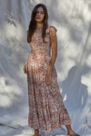 By Together  Smocked Maxi Dress - Front cropped