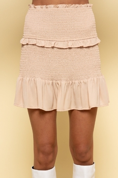 Shoptiques Product: Smocked Mini Skirt