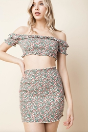 Honey Punch Smocked Off-Shoulder Crop-Top - Product Mini Image