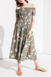 Others Follow  Smocked Off-Shoulder Dress - Front cropped