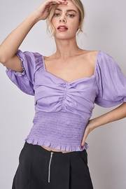 Do + Be  Smocked Peasant Top - Product Mini Image