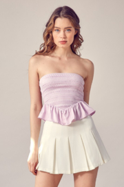 Idem Ditto  Smocked Peplum Tube Top - Other