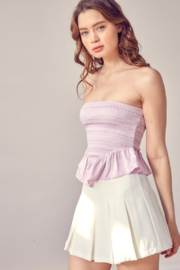 Idem Ditto  Smocked Peplum Tube Top - Side cropped