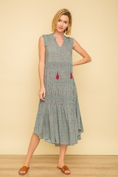 Mystree Smocked Pintuck Dress - Product List Image