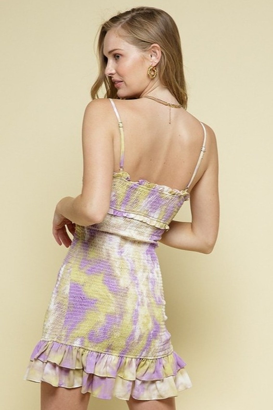 Style Rack Smocked Printed Dress - Front Full Image