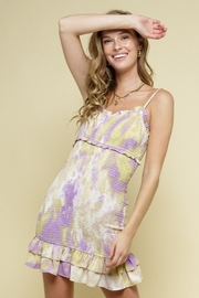 Style Rack Smocked Printed Dress - Product Mini Image