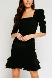 Olivaceous Smocked Puff Sleeve Dress - Product Mini Image