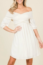 annabelle Smocked Puff-Sleeve Dress - Product Mini Image