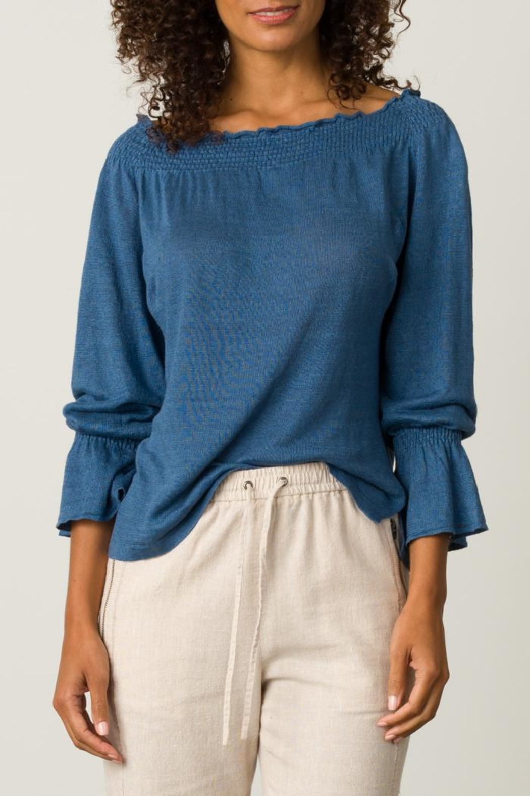 Margaret O'Leary Smocked Pullover - Front Full Image