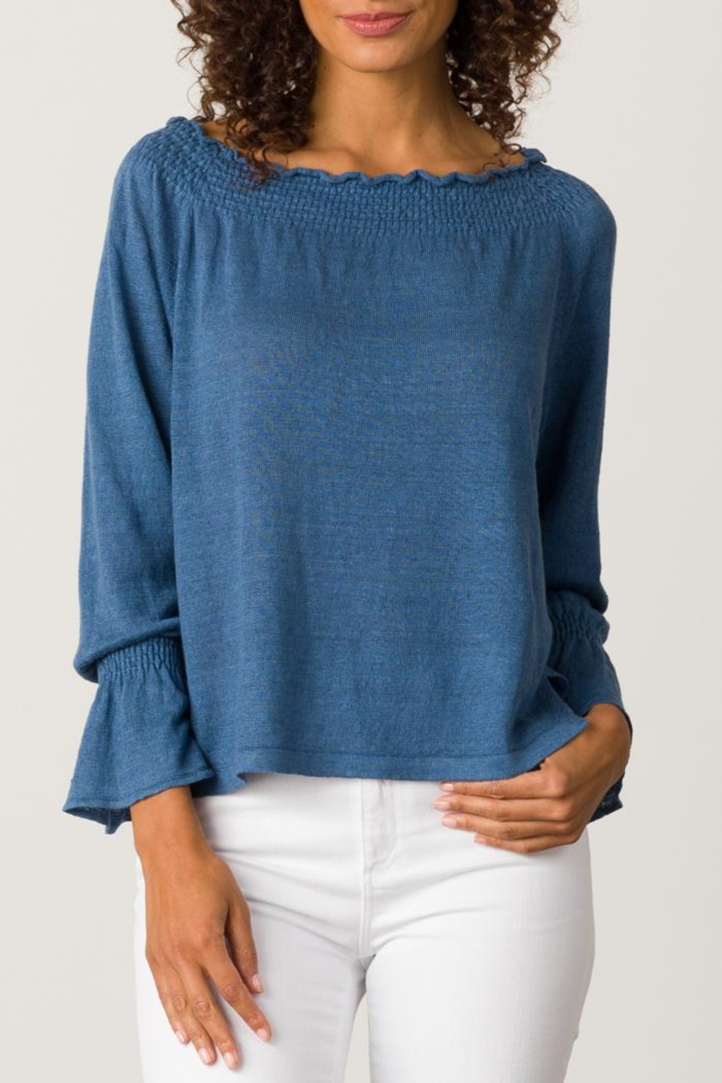 Margaret O'Leary Smocked Pullover - Main Image