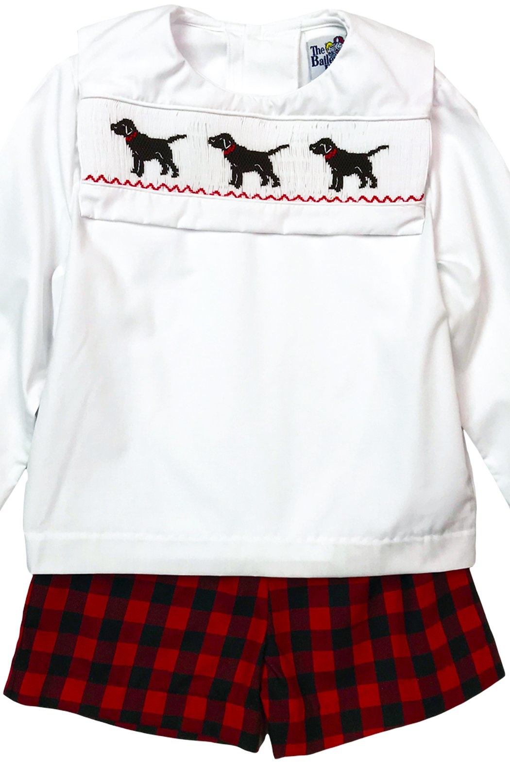 Bailey Boys Smocked Puppy Dog Dressy Short Set - Front Cropped Image