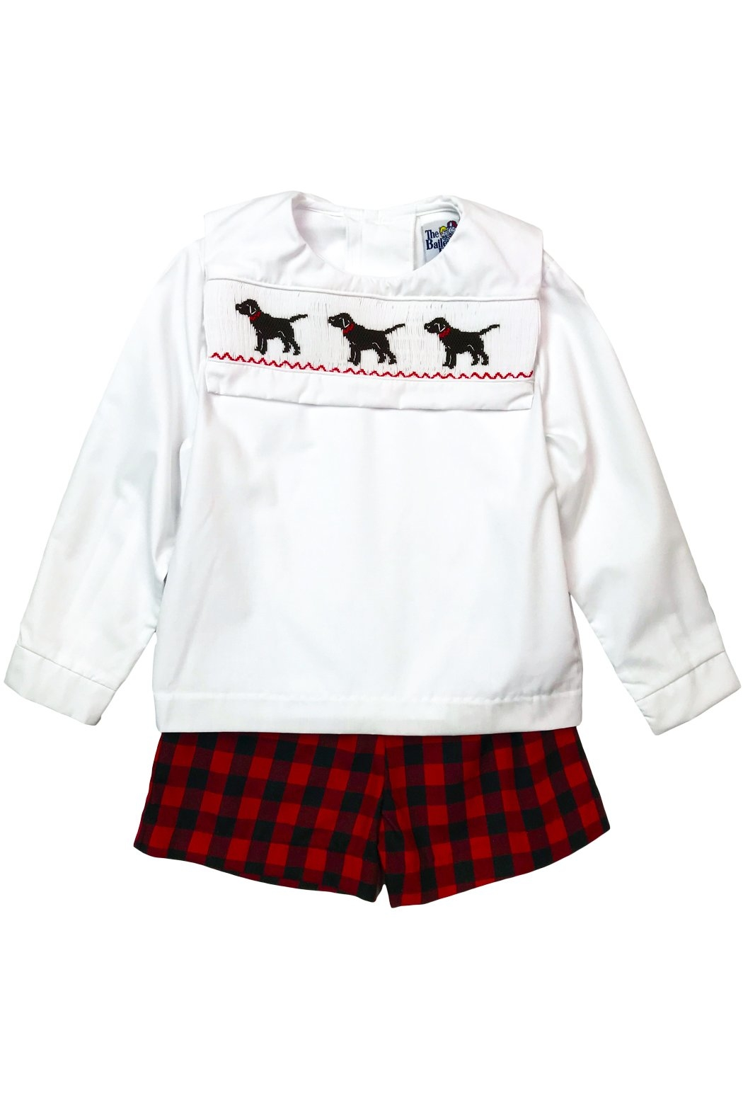 Bailey Boys Smocked Puppy Dog Dressy Short Set - Side Cropped Image