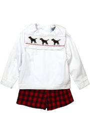 Bailey Boys Smocked Puppy Dog Dressy Short Set - Side cropped