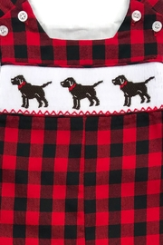 Bailey Boys Smocked Puppy Dog John John - Side cropped