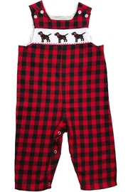 Bailey Boys Smocked Puppy Dog John John - Front cropped