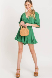 Lush Smocked Ruffle Jumper - Front cropped