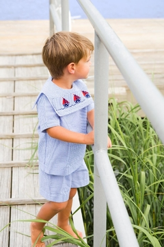 Bailey Boys Smocked-Sailboats Dressy Short-Set - Alternate List Image