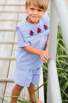 Shoptiques Product: Smocked-Sailboats Dressy Short-Set