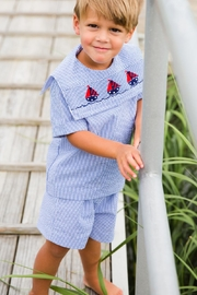 Bailey Boys Smocked-Sailboats Dressy Short-Set - Front cropped