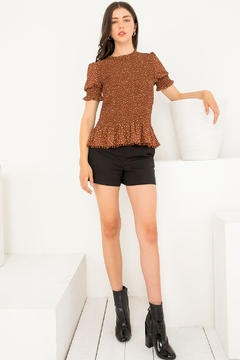Thml Smocked Short Sleeve Top - Product List Image