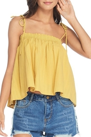 Anama Smocked Shoulder-Tie Tank - Product Mini Image