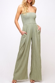 Peach Love Smocked Strapless Jumpsuit - Product Mini Image