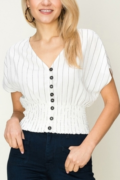 Shoptiques Product: Smocked Striped Crop Top