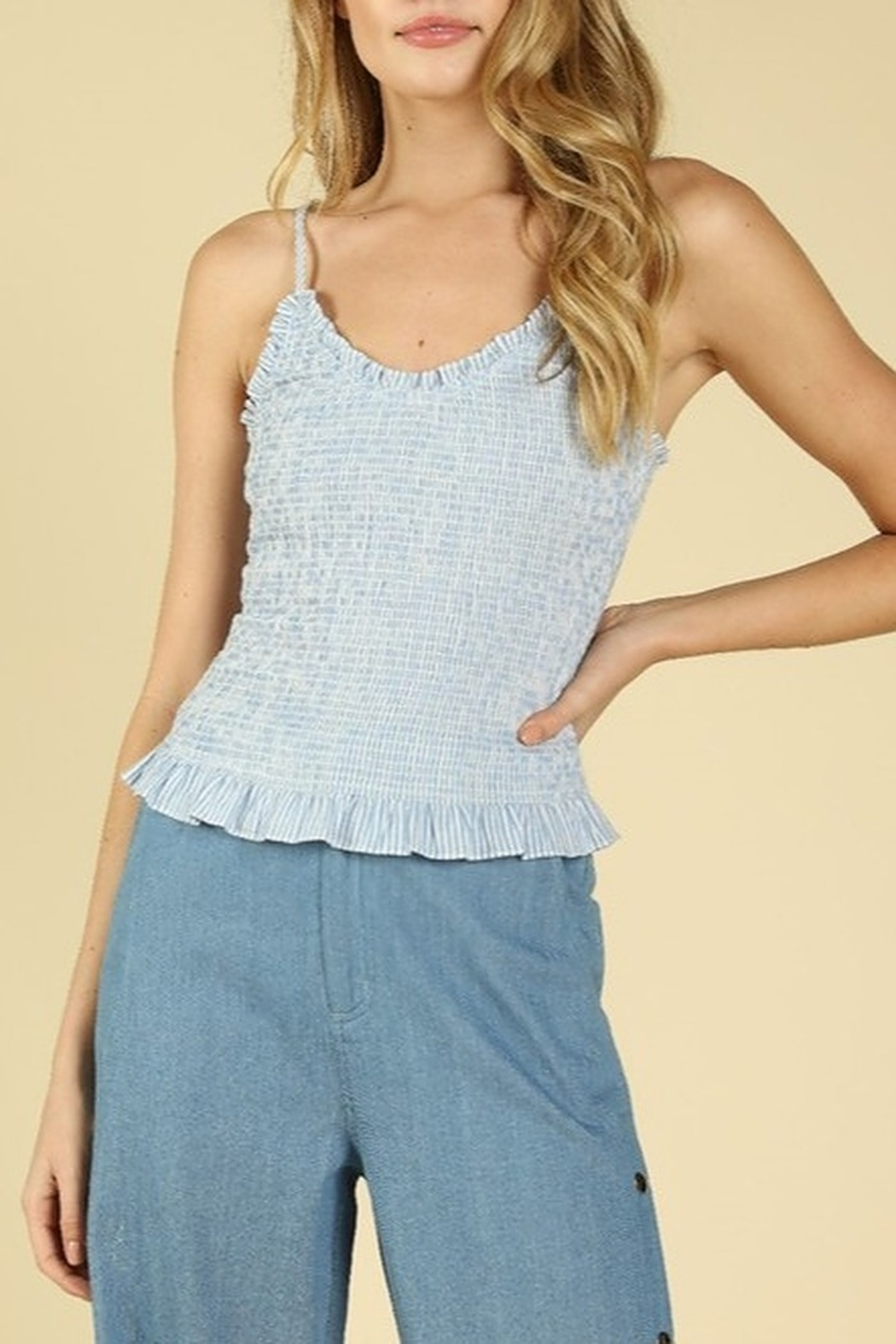 Wild Honey Smocked Striped Top - Main Image